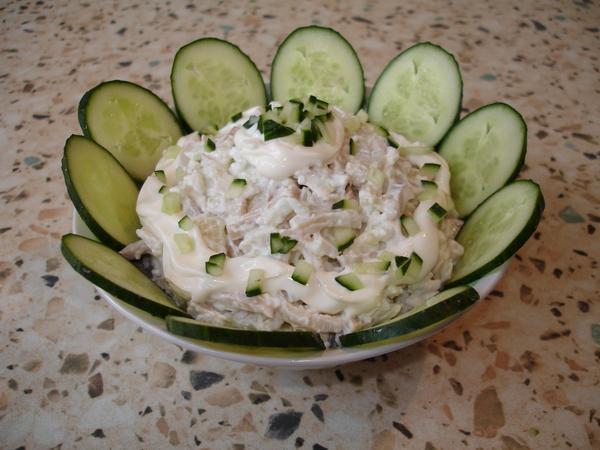 Рецепт салат кальмаров фото