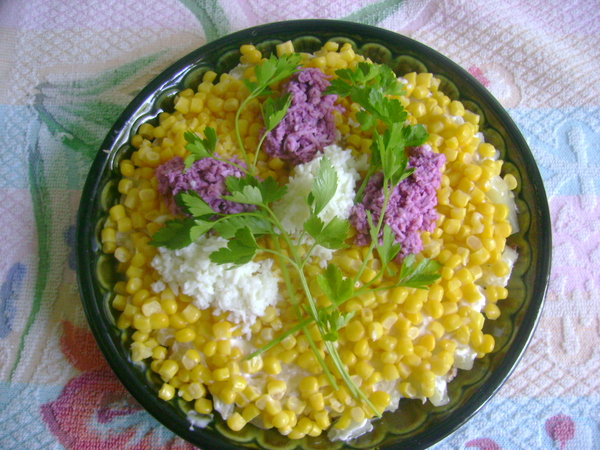 Как сделать с ананасом салат рецепт