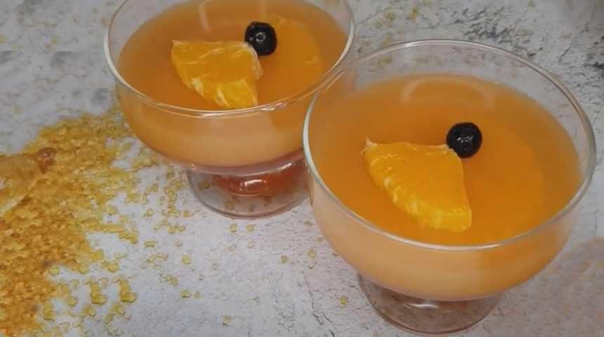 Желе апельсиновое с апельсиновым соком