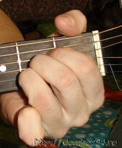 Аккорд А другими пальцами
