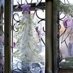 Окно раскрашенное к новому году