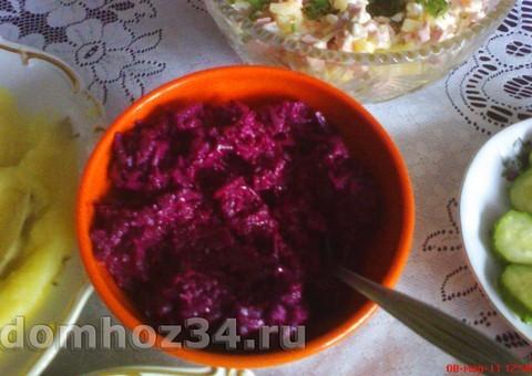 Кулинарный рецепт Салат из свеклы