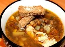 Куриный суп с ветчиной