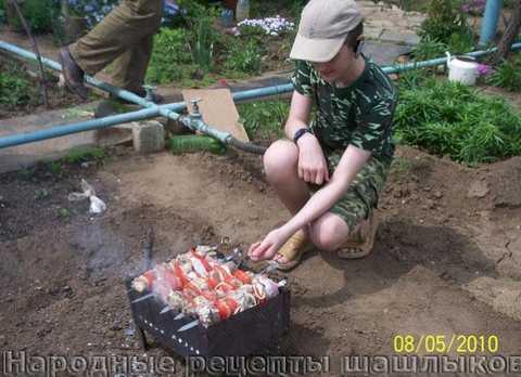 Шашлык из свинины или баранины на даче
