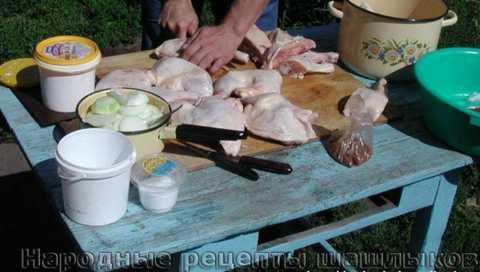 Шашлык из курицы в ореховом соусе