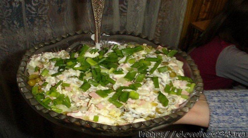 Салат оливье классический простой рецепт
