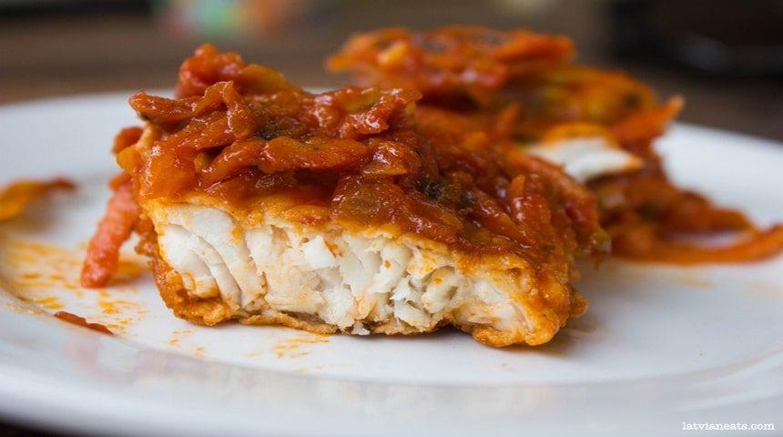 Вкуснейшие кусочки рыбы под маринадом