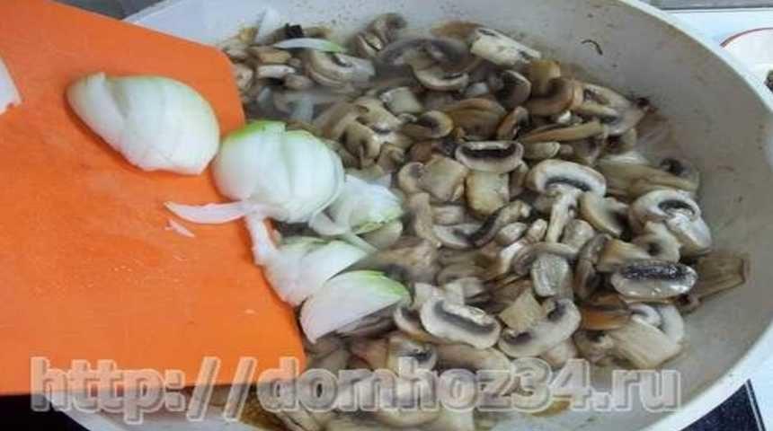 Нарезка оука и грибов