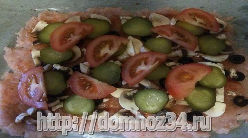 Основа для пиццы на курином фарше