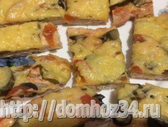 Пицца на курином фарше без теста в духовке, простой рецепт с фото